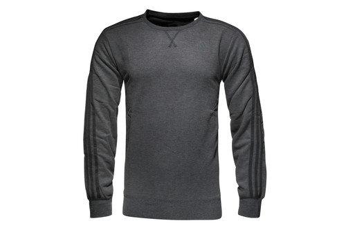 Essential 3 Stripe Crew Climalite L/S Sweatshirt