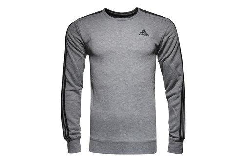 Essentials 3 Stripe Crew L/S Sweatshirt