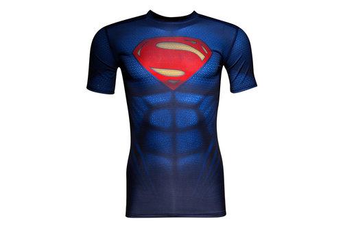 Superman Transform Yourself Kids Compression S/S T-Shirt