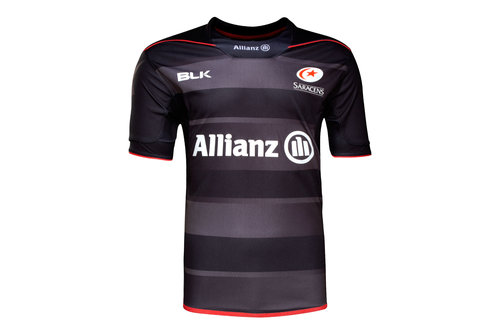 Saracens 2016/17 Kids Home S/S Replica Rugby Shirt