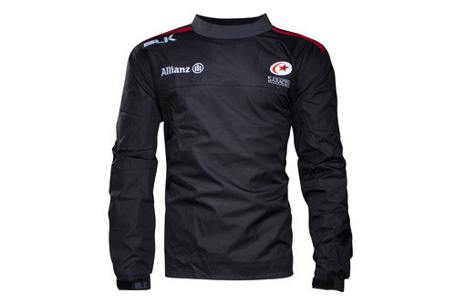 Saracens 2016/17 Kids Wet Weather Pullover Rugby Jacket