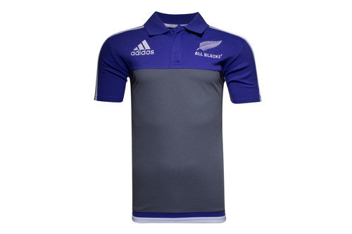 New Zealand All Blacks 2016/17 Players Media Rugby Polo Shirt