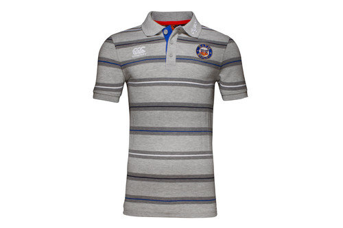 Bath 2016/17 Players Media Striped Rugby Polo Shirt