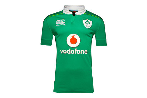 Ireland IRFU 2016/17 Kids Home Pro S/S Replica Rugby Shirt