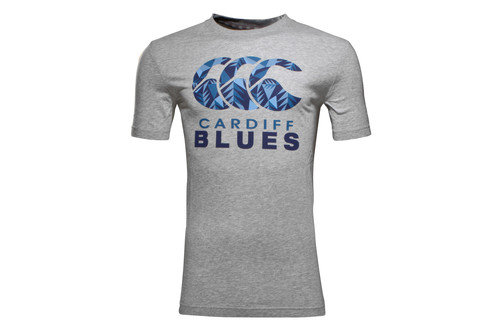 Cardiff Blues 2016/17 Off Field Graphic Rugby T-Shirt