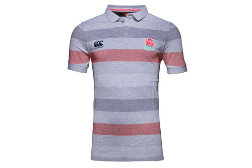 England 2016/17 Jaquard Off Field Rugby Polo Shirt