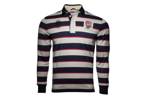 England 1871 Limited Edition Striped L/S Rugby Shirt