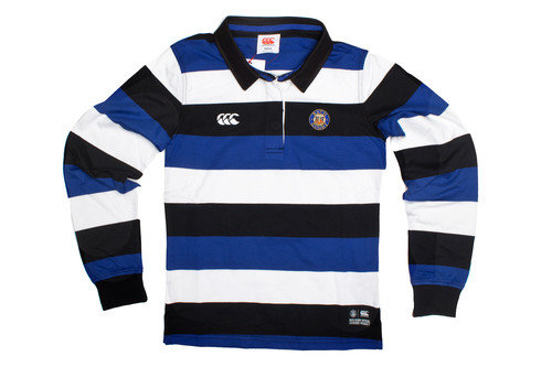 Bath 2016/17 Ladies Supporters Off Field Hooped L/S Rugby Shirt