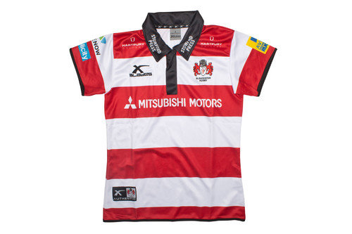 Gloucester 2016/17 Home Ladies S/S Replica Rugby Shirt
