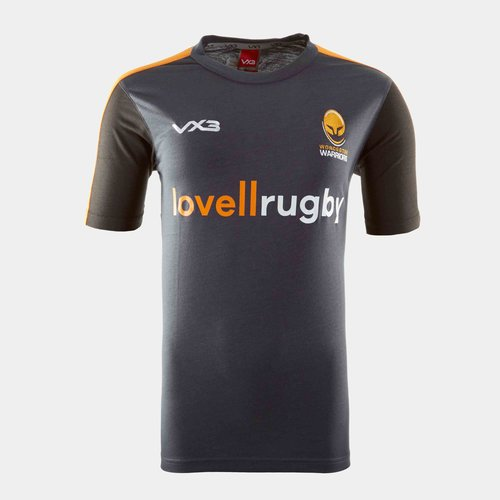 Worcester Warriors 19/20 Kids Cotton Rugby Training T-Shirt