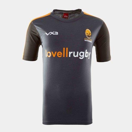 Worcester Warriors 19/20 Kids Cotton Rugby Training T-Shirt