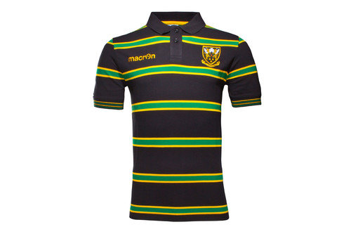 Northampton Saints 2016/17 Cotton Stripe Rugby Polo Shirt