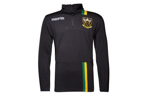 Northampton Saints 2016/17 Players 1/4 Zip Rugby Sweatshirt