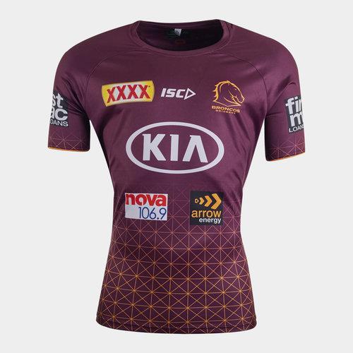 Brisbane Broncos NRL 2020 Players Rugby Training T-Shirt