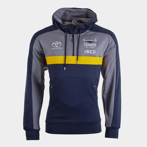 North Queensland Cowboys NRL 2020 Players Hooded Rugby Sweat