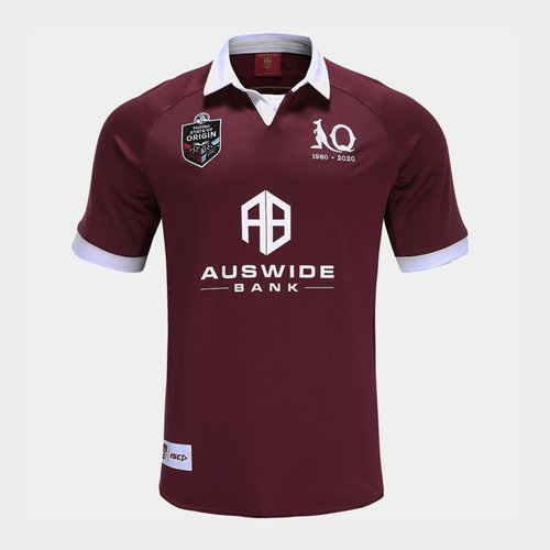 Queensland Maroons NRL 2020 Kids Home S/S Rugby Shirt