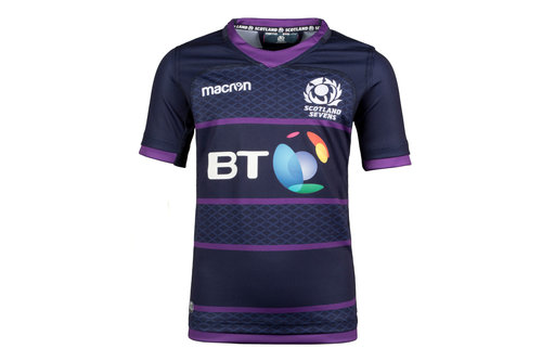 Scotland 7s 2017/18 Home Kids S/S Replica Rugby Shirt