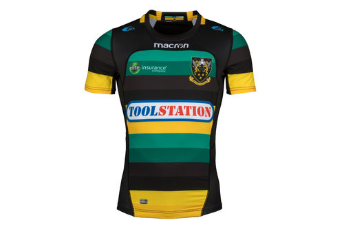 Northampton Saints 2017/18 Home S/S Authentic Test Rugby Shirt