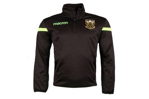 Northampton Saints 2017/18 Players 1/4 Zip Rugby Sweatshirt