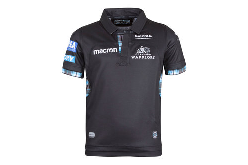 Glasgow Warriors 2017/18 Kids Home S/S Replica Rugby Shirt
