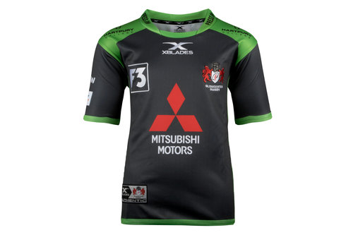 Gloucester 2017/18 Alternate Kids S/S Replica Rugby Shirt