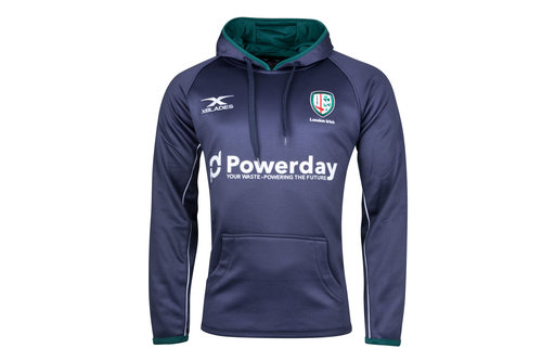 London Irish 2017/18 Players Hooded Rugby Sweat