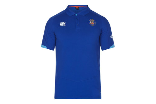 Bath 2017/18 Players Cotton Pique Rugby Polo Shirt