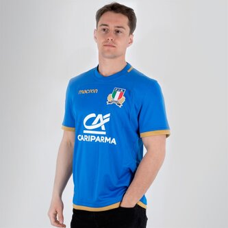 Italy 2017/18 Home S/S Replica Rugby Shirt