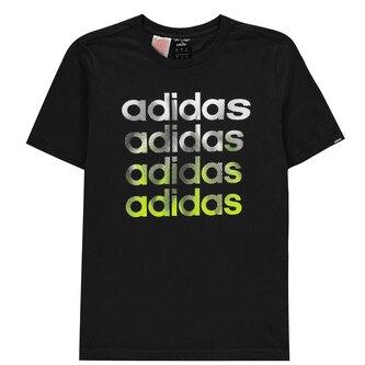 Faded Repeat Logo T Shirt Junior Boys