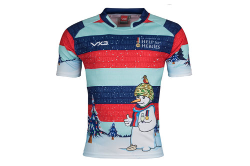 Help For Heroes Christmas 2017 Kids Snowman Charity Rugby Shirt