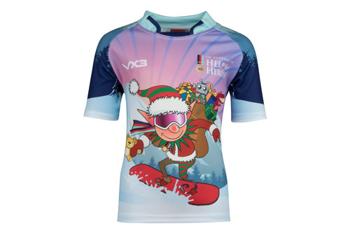 Help For Heroes Christmas 2017 Kids Elf Charity Rugby Shirt