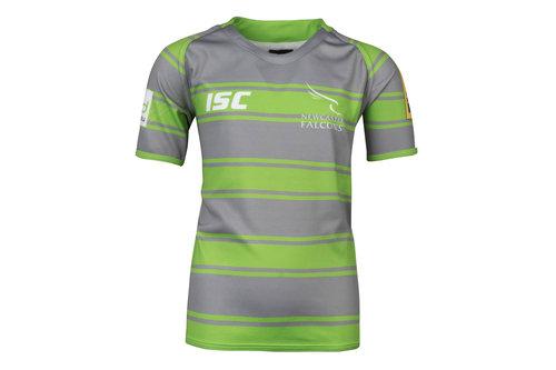 Newcastle Falcons 2017/18 Kids Alternate S/S Replica Rugby Shirt