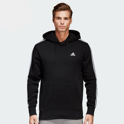 Essentials 3 Stripes Hooded Sweat