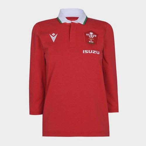 Wales Home Three Quarter Sleeve Classic Shirt 2020 2021 Ladies