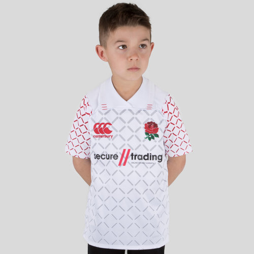 England 7s 2018/19 Kids Home Pro S/S Rugby Shirt