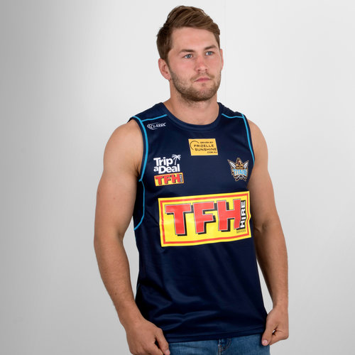Gold Coast Titans 2018 NRL Players Rugby Training Singlet