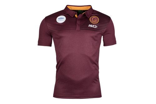 Brisbane Broncos NRL 2018 Players Rugby Polo Shirt