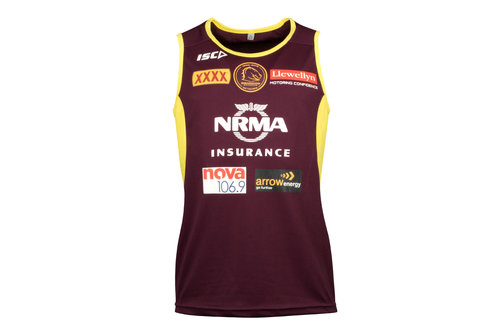 Brisbane Broncos NRL 2018 Players Rugby Training Singlet