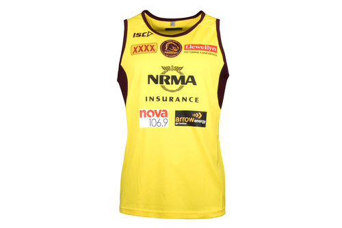 Brisbane Broncos NRL 2018 Players Rugby Training Singlet