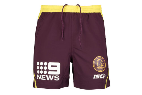 Brisbane Broncos NRL 2018 Players Rugby Training Shorts