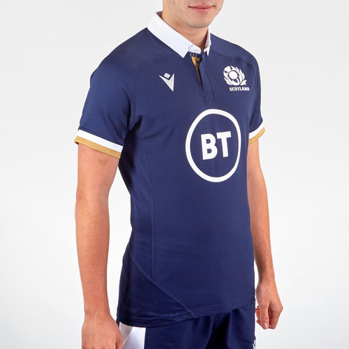 Scotland Authentic Home Rugby Shirt 2020 2021