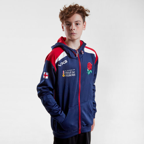 Help for Heroes England 2018/19 Kids Hooded Rugby Sweat