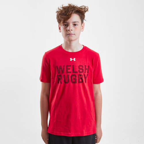 Wales WRU 2017/19 Kids Graphic Rugby T-Shirt