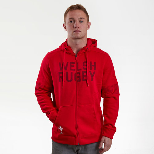 Wales WRU 2017/19 Players Full Zip Rugby Jacket