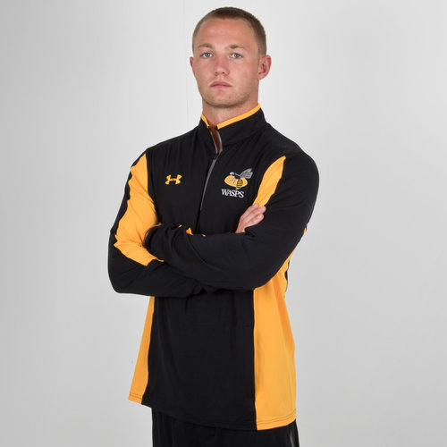 Wasps 2018/19 Players 1/4 Zip Rugby Training Jacket