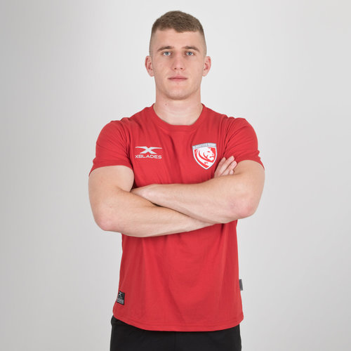 Gloucester 2018/19 Players Cotton Rugby Training T-Shirt