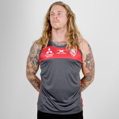 Gloucester 2018/19 Players Rugby Training Singlet