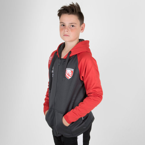 Gloucester 2018/19 Kids Full Zip Hooded Rugby Sweat