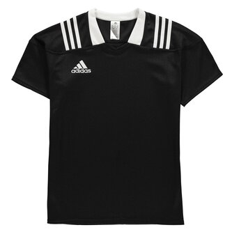 Team Wear 3 Stripe Fitted S/S Rugby Shirt