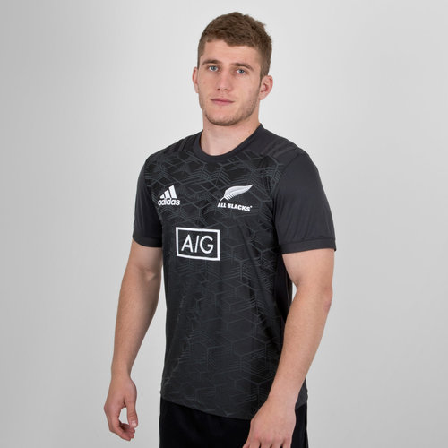 New Zealand All Blacks 2018/19 Performance Rugby T-Shirt